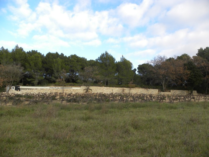 Mur de soutènement à Lambesc