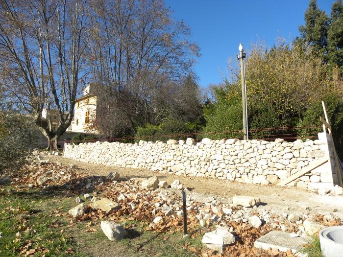 Mur de soutènement à Calavon