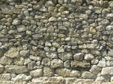 mur en pierre romain