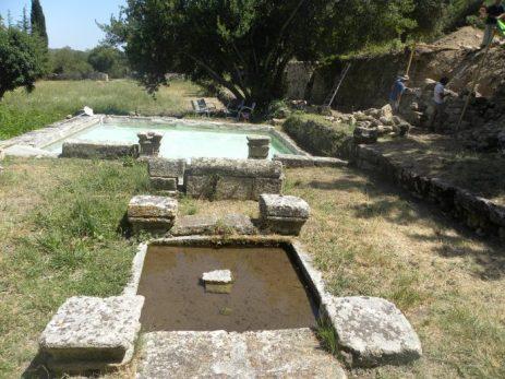 Bassin romain d'époque