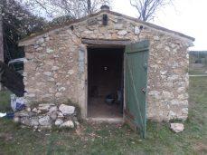 restauration d'un cabanon en pierre à Puyricard.